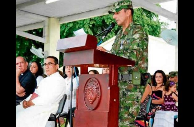 Leonado Pinto, brigadier del Ejército Nacional, saliente de la Brigada XI