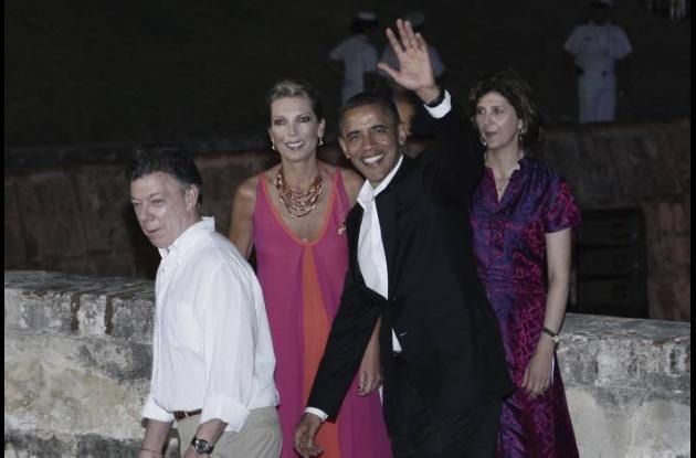 El presidente de Estados Unidos, Barack Obama, junto al presidente de Colombia,