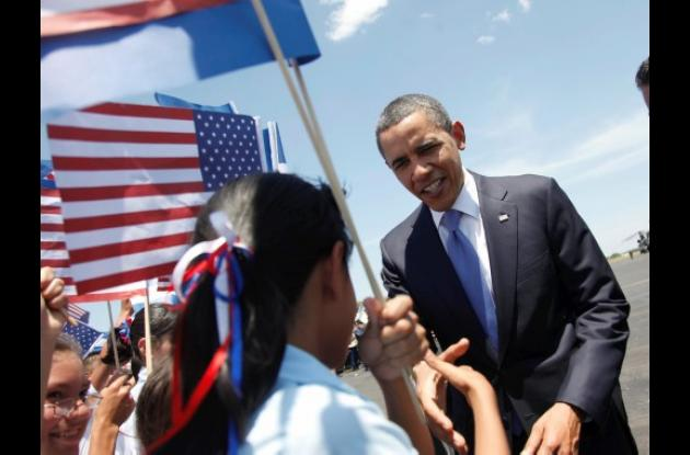 Barack Obama en El Salvador.
