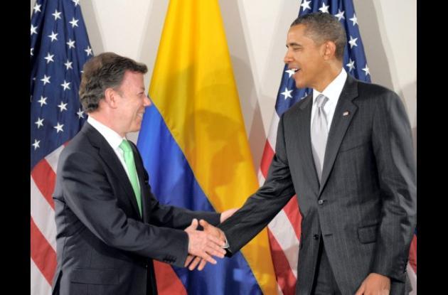 Juan Manuel Santos y Barack Obama, presidentes de Colombia y Estados Unidos.