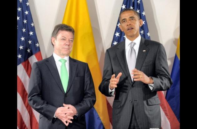 Juan Manuel Santos y Barack Obama.