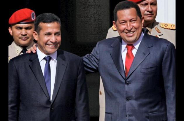 Ollanta Humala y Hugo Chávez