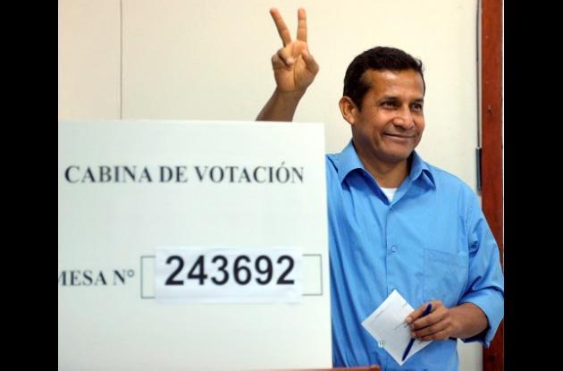 Ollanta Humala, candidato a la Presidencia de Perú.