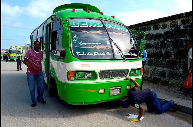 DATT adelanta operativos para verificar estado físico de buses y busetas