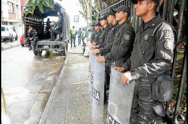Operativos del Esmad en Sincelejo para recuperación del espacio público.