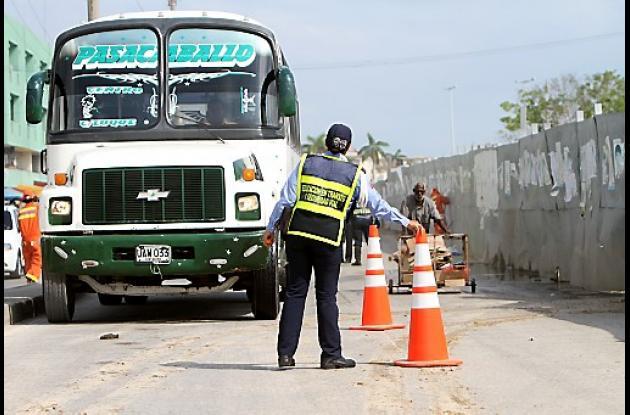 Operativo del DATT en el Centro Histórico de Cartagena.