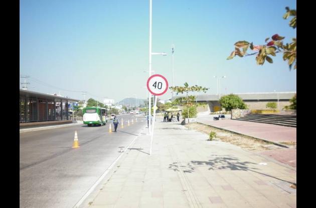 La avenida Pedro de Heredia fue el escenario para el operativo de velocidad.