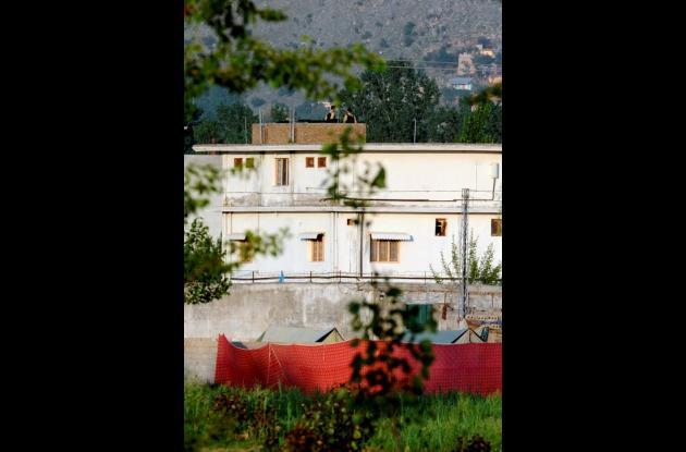 Complejo fortificado en Abotabad, Pakistán donde se escondía Osama bin Laden.