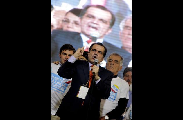 Óscar Ivan Zuluaga en su discurso como representante del Movimiento Uribe Centro Democrático.