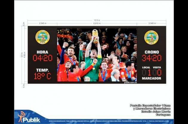 La pantalla es la misma que se utilizó en el Mundial de Sudáfrica.