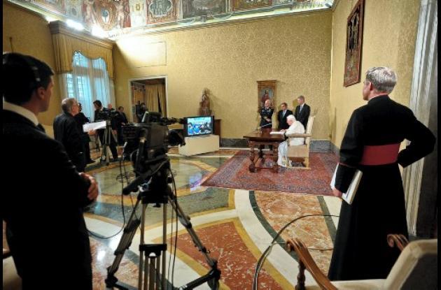 El Papa habló con los astronautas de la Estación Espacial Internacional.