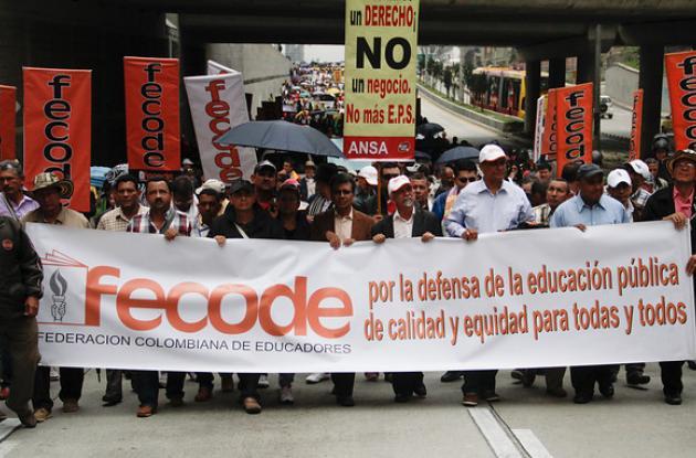 Los maestros habían cesado sus actividades para salir a las calles.
