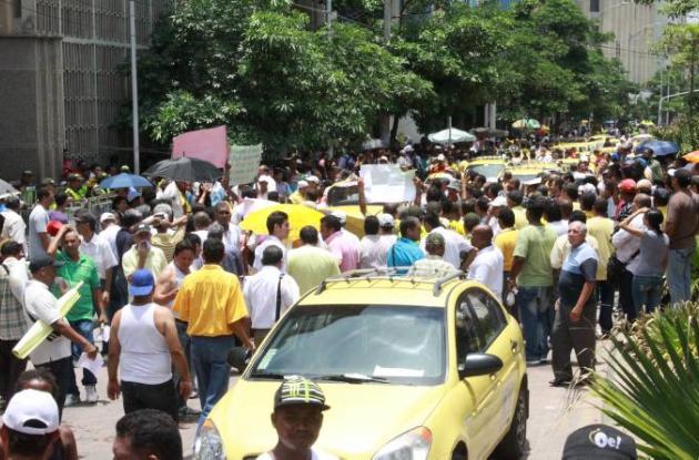 Paro de taxistas en Barranquilla