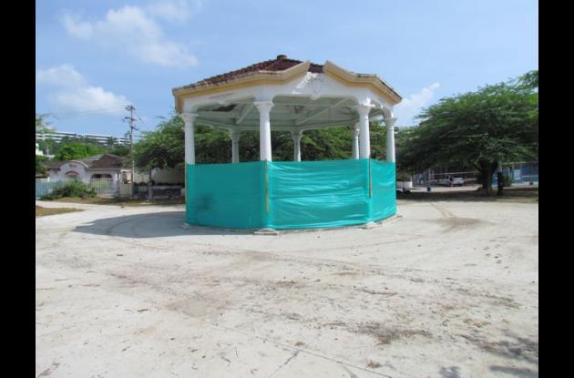 Los trabajos en el parque de Los Leones se realizan en dos etapas. En la primera se invirtieron 55 millones de pesos.