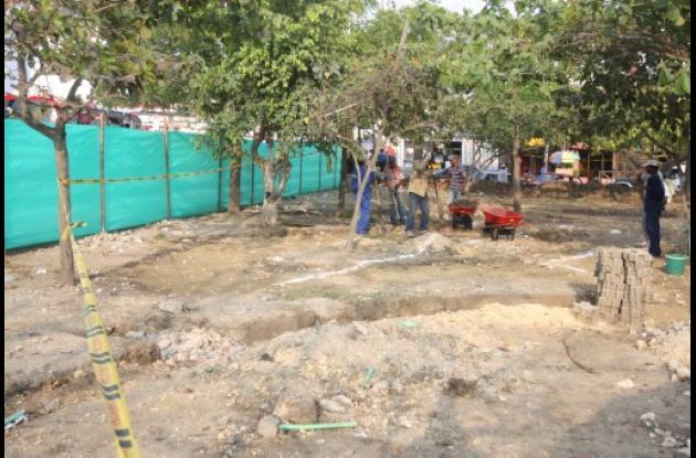 Construcción de nuevo parque en el barrio San Pedro de Cartagena.