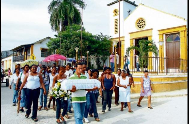 funeral de  Brandon de la Hoz en Pasacaballos