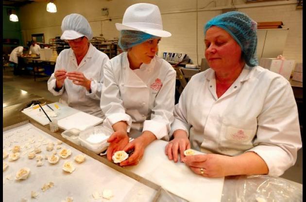El pastel es una creación de Fiona Cairns.