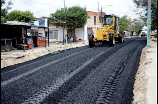 Pavimentación de Avenida del Acueducto en Cartagena.