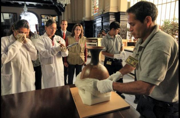 Universidad de Yale devuelve piezas arqueológicas de Machu Pichu.