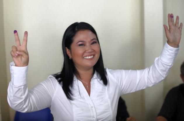 Keiko Fujimori, a segunda vuelta presidencial en Perú.