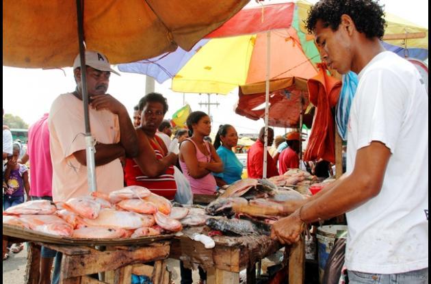La mojarra roja y negra fueron las más solicitadas en el Mercado de Bazurto.