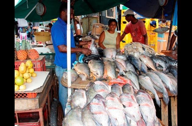 Entre 7 mil y 8 mil pesos cuesta la mojarra.