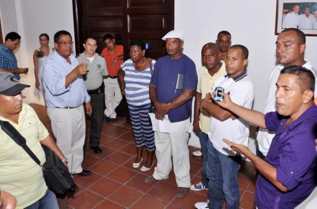 Reunión del alcalde con picoteros