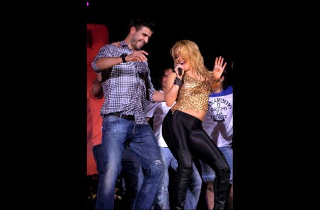 Shakira festeja con el Barcelona.