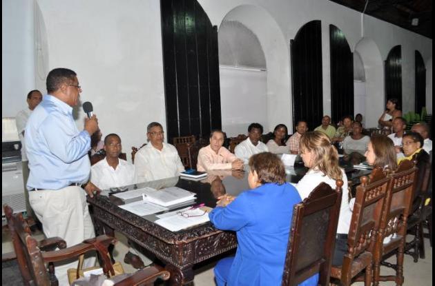 El alcalde de Cartagena entregó al CTP el borrador del Plan de Desarrollo.