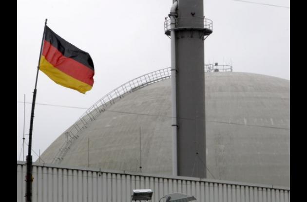 Planta de energía nuclear en Alemania.