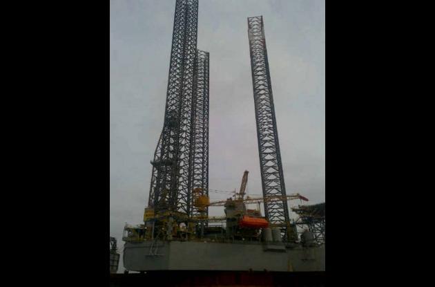 La plataforma donde la empresa Equión Energía empezará la perforación explorator