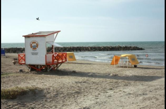 Playa piloto en Marbella.
