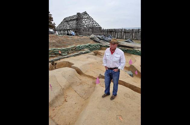 El jefe del sitio arqueológico de Jamestown se encuentra en el lugar exacto dond