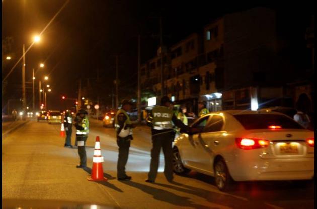 Control policial a ebrios al volante