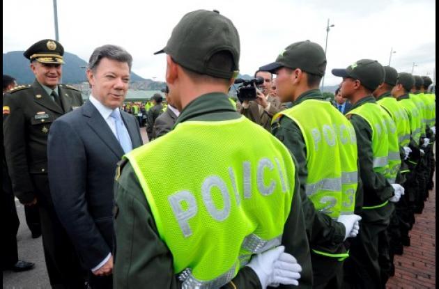 Santos afirmó que el pie de fuerza de la Policía Nacional se incrementará con 20