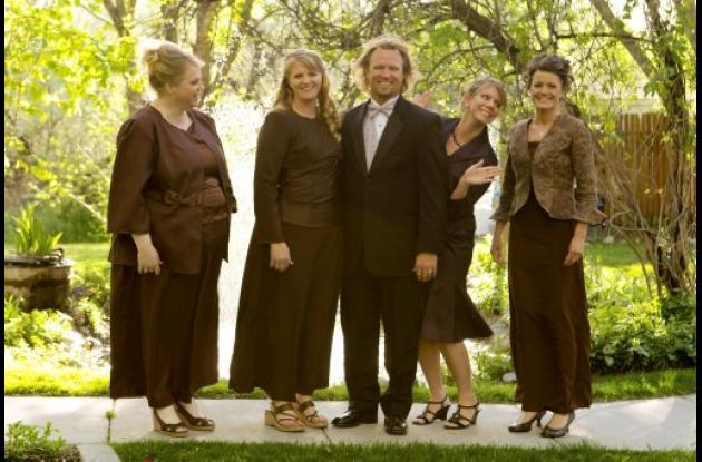 Kody Brown y sus cuatro esposas, Meri, Janelle, Christine y Robyn.