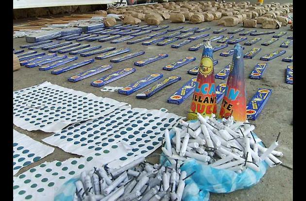 La pólvora incautada fue avaluada en 132 millones de pesos.