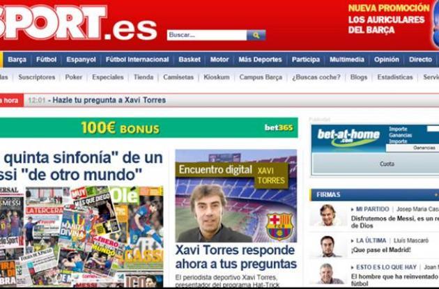 Portada de El Universal en diario de España