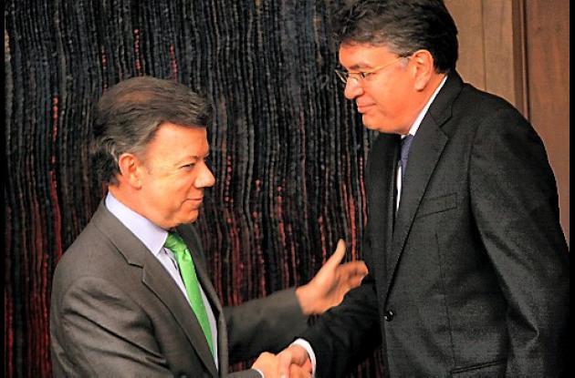 Mauricio Santamaría se posesionó ante el presidente Juan Manuel Santos.