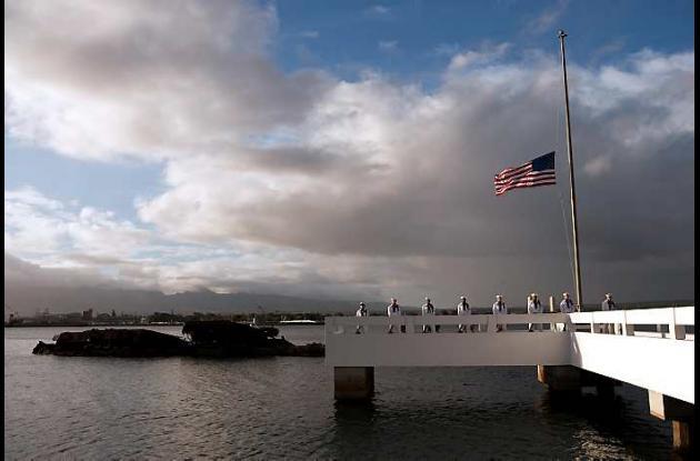 Conmemoración en Hawai de los muertos en Pearl Harbor.