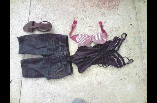 Prendas de vestir hallada a una de las víctimas