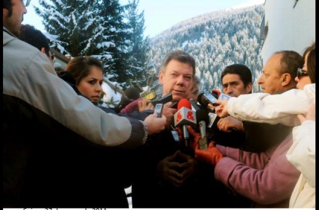 Presidente Santos en Davos, Suiza.