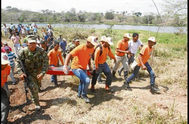 El cuerpo de Julio Caro Caballero fue el último en ser rescatado, ya que estaba