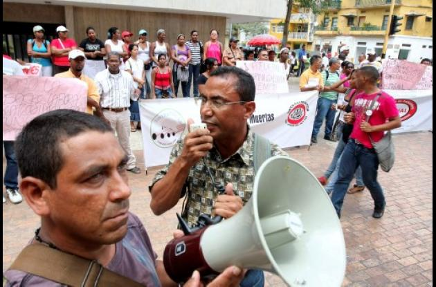 Protesta trabajadores industria alimentaria
