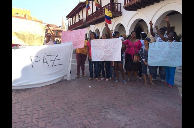 protesta barrio el silencio