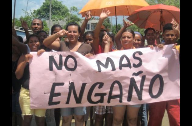 Protesta en Clemencia, norte de Bolívar.