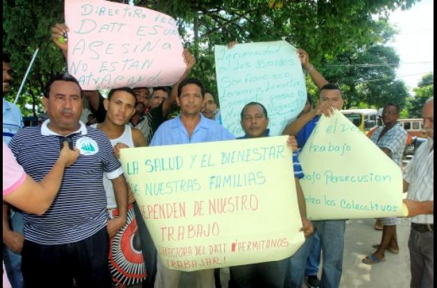 Protesta de camperos colectivos en Cartagena