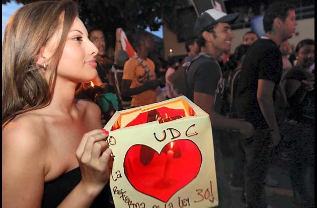 Protesta Universidad de Cartagena