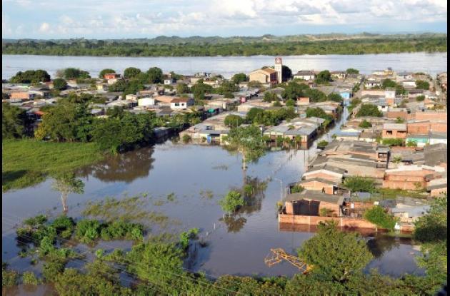 Puerto Nare, en Antioquia, está inundado.