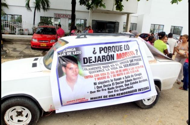 protesta por la muerte de Jeison Caballero